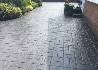 Driveway July after